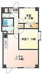 武山ビル[2階]の間取り