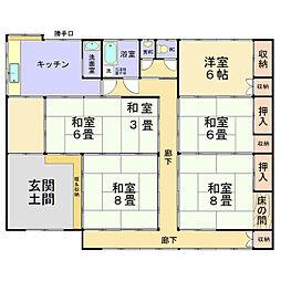 [一戸建] 茨城県土浦市東真鍋町 の賃貸【/】の間取り
