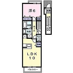 カーサ・ラッフィナート B[2階]の間取り