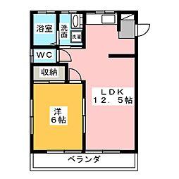 すずきハイツ[2階]の間取り