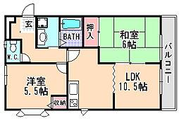 兵庫県宝塚市高司2丁目の賃貸アパートの間取り