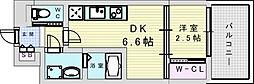 セレニテ三国プリエ 11階1DKの間取り