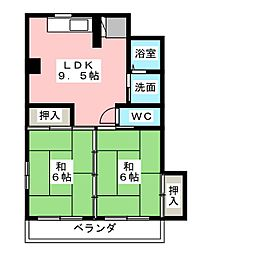 和洋第一ビル[2階]の間取り