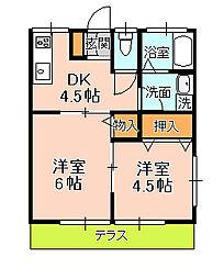 吉田コーポ[103号室]の間取り