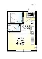 プリモ井土ヶ谷[2階]の間取り