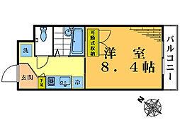 namsa東中野[4階]の間取り