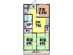 徳和マンション・[5階]の間取り