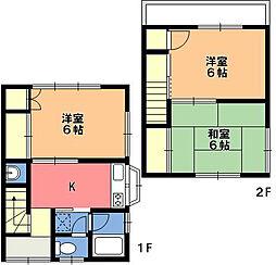 松本アパート[1階]の間取り