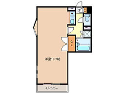 三重県四日市市西松本町の賃貸マンションの間取り