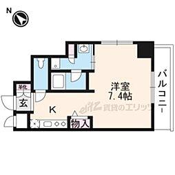 DAIWA RESIDENCE IBARAKI 7階ワンルームの間取り