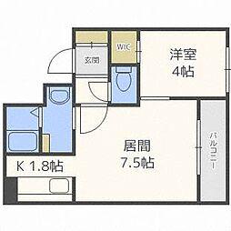 プロヴィデンス東札幌[2階]の間取り