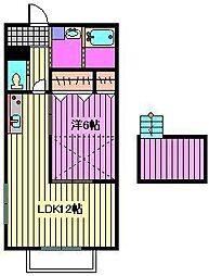 クレストール大成[2階]の間取り