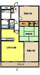 ロイヤルNY[3階]の間取り