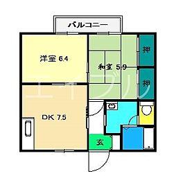 メゾンセフィラ B棟[2階]の間取り