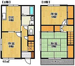 [テラスハウス] 千葉県船橋市東船橋6丁目 の賃貸【千葉県 / 船橋市】の間取り