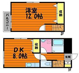 [テラスハウス] 岡山県倉敷市中庄 の賃貸【/】の間取り