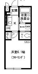 東京都荒川区南千住6丁目の賃貸アパートの間取り