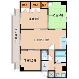 兵庫県尼崎市田能1丁目の賃貸マンションの間取り