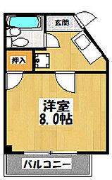 大阪府東大阪市高井田西5丁目の賃貸マンションの間取り
