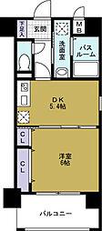 クリスタルグランツ大阪BAY[10階]の間取り