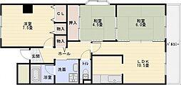 メゾンドゥボヌール[1階]の間取り