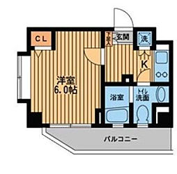 東京都中野区上高田4丁目の賃貸マンションの間取り