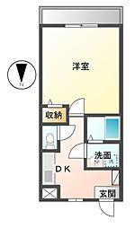 栃木県宇都宮市平松本町の賃貸マンションの間取り
