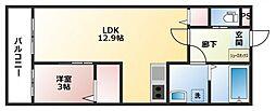 仮)メゾンコートHATA[2階]の間取り