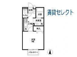 千葉県松戸市常盤平1の賃貸アパートの間取り