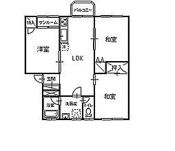 ローズハウスA[102号室]の間取り