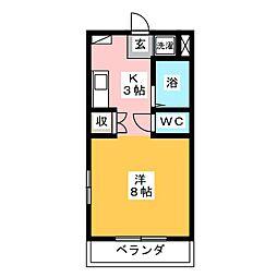 サンライト津島III号館[3階]の間取り