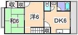 ライブリー・網干[2階]の間取り