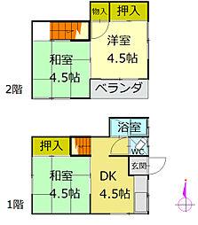 [一戸建] 香川県高松市松島町1丁目 の賃貸【/】の間取り