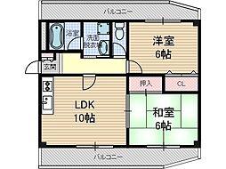 チサトマンション[2階]の間取り