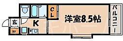 広島県安芸郡海田町大正町の賃貸マンションの間取り