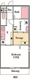 埼玉県東松山市加美町の賃貸アパートの間取り