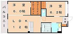 仮)日蒔野マンション[2階]の間取り