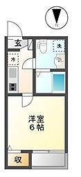 愛知県名古屋市中川区牛立町5丁目の賃貸アパートの間取り