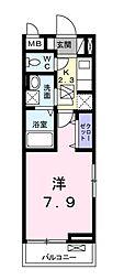 埼玉県所沢市東所沢5丁目の賃貸アパートの間取り