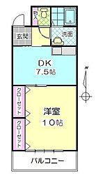 ドリーム山一[203号室]の間取り