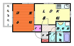 シルエーラ香椎駅東[2階]の間取り