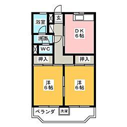 前田マンション[4階]の間取り