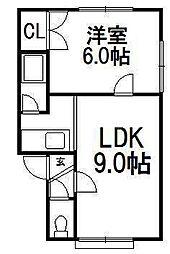 ハイツJJ[2階]の間取り