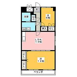 グレイスコート千代田[7階]の間取り