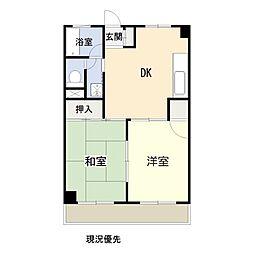 KDマンション[302号室号室]の間取り