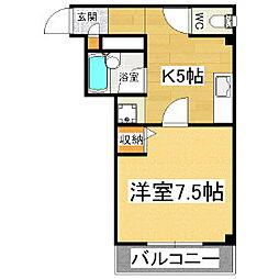 ダリヤビル[3階]の間取り