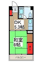 トーシンコーポ[3階]の間取り