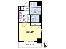 JR総武線 西荻窪駅 徒歩2分の賃貸マンション 5階1Kの間取り