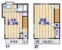 [テラスハウス] 千葉県市川市新浜1丁目 の賃貸【/】の間取り