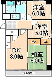 太陽ビル[6階]の間取り